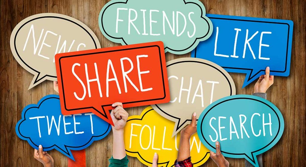 social media thought bubbles