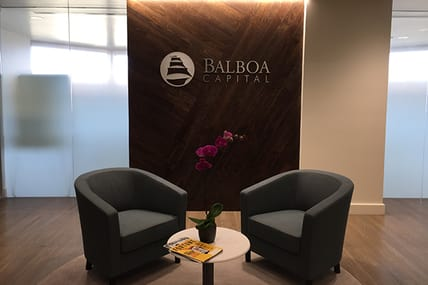 office lobby at balboa capital