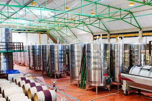 modern winery with wine making equipment