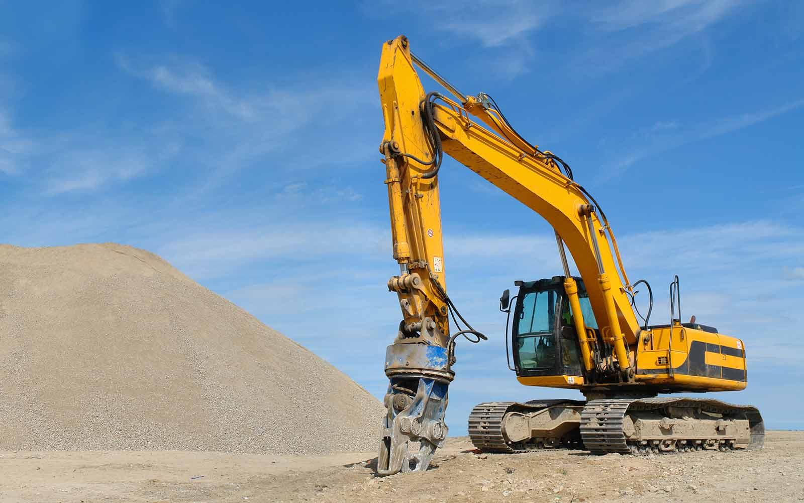 yellow bulldozer ready for work
