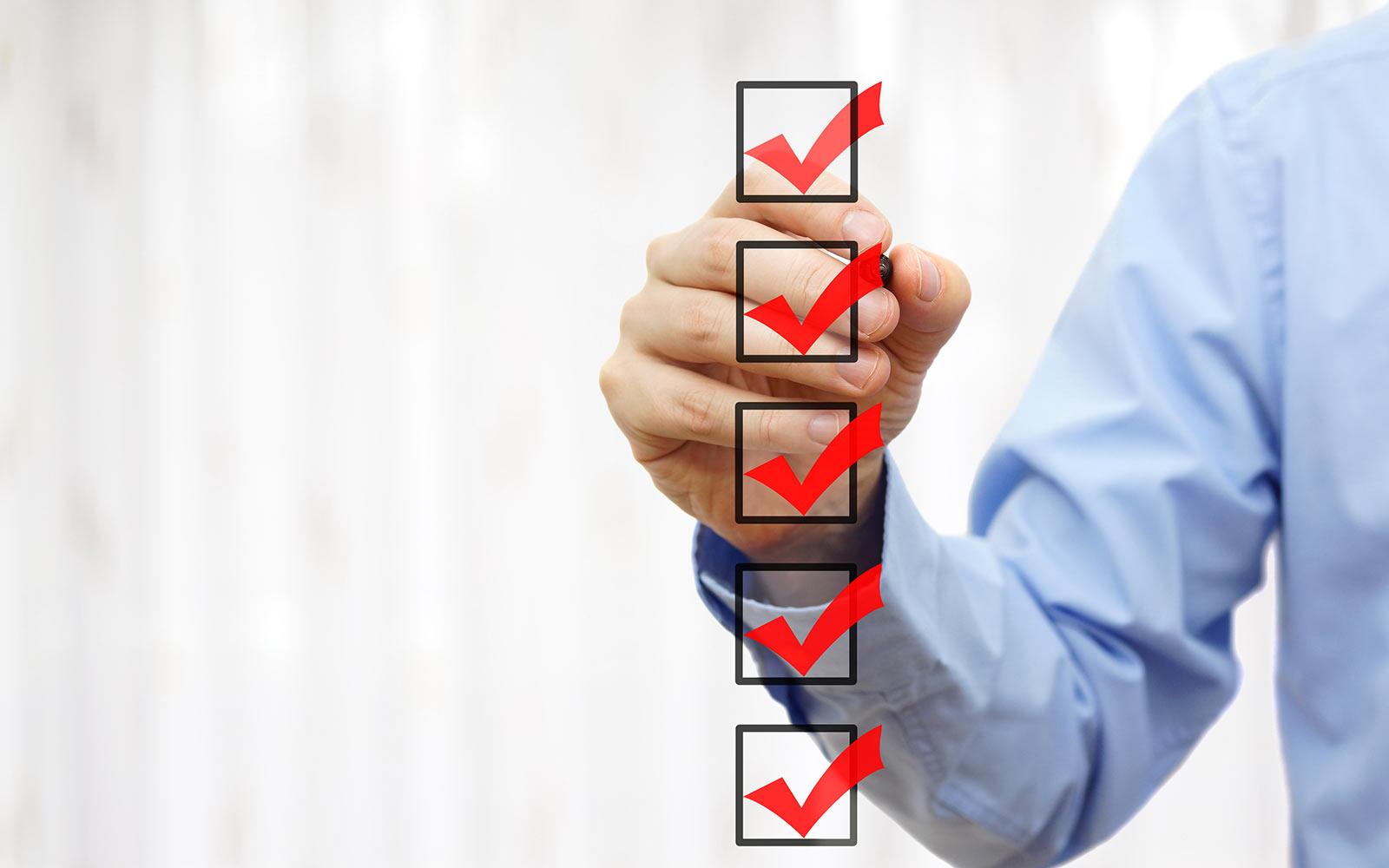 equipment leasing companies checklist