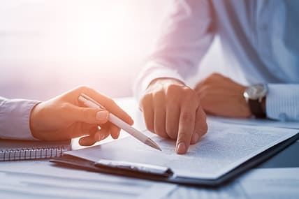 reviewing a business agreement