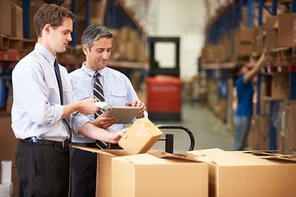 two warehouse managers