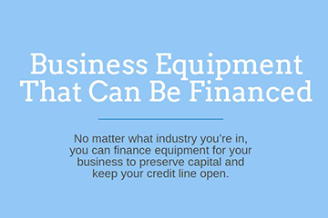 equipment you can finance infographic preview