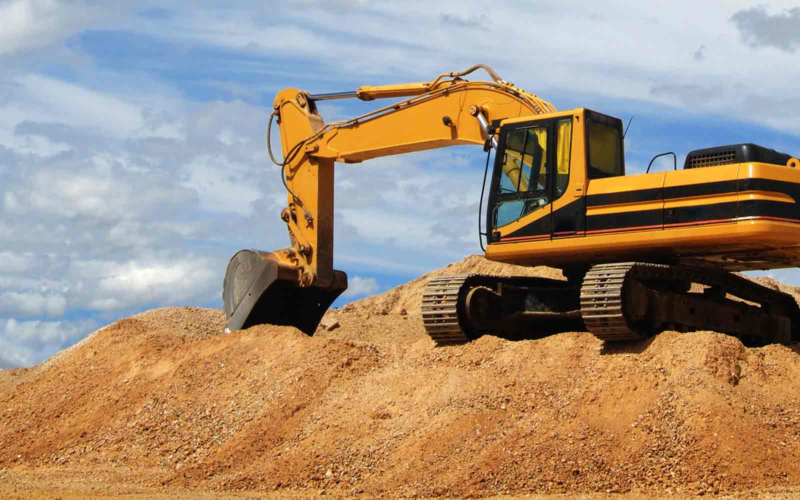 large bulldozer at a construction site