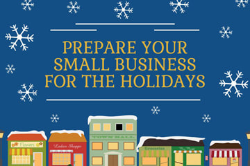 small business holiday marketing infographic