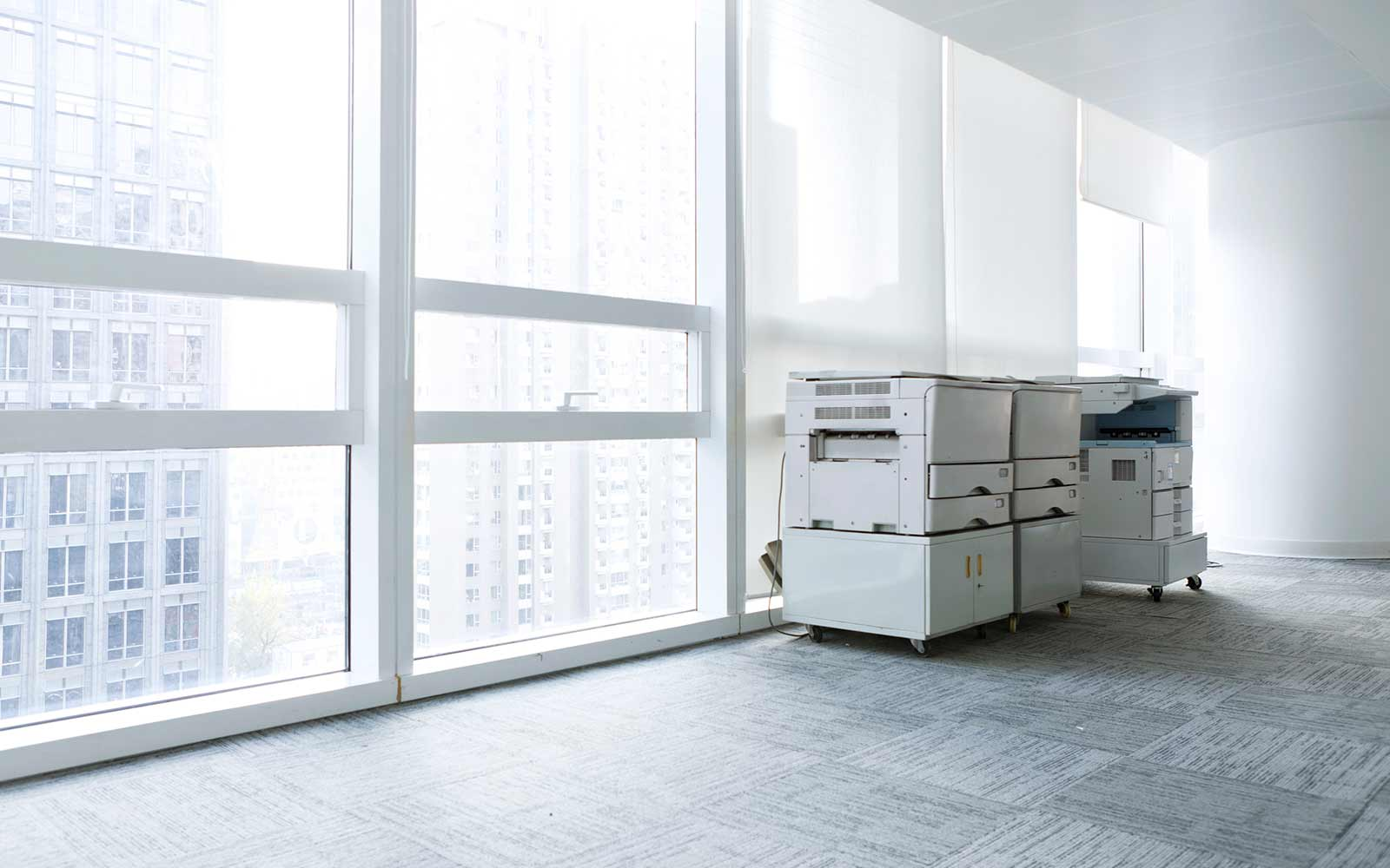 modern office with office imaging equipment