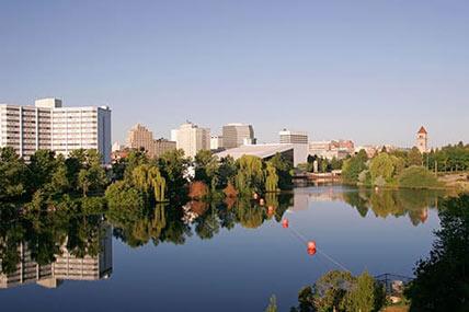 spokane washington cityscape
