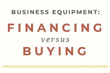 financing versus buying equipment infographic preview