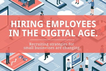 small business employee recruiting infographic