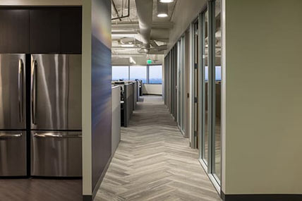 hallways inside balboa capital office in costa mesa, california