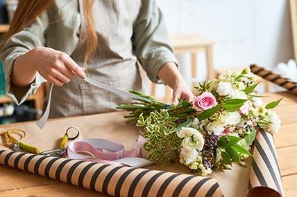 franchise flower shop worker
