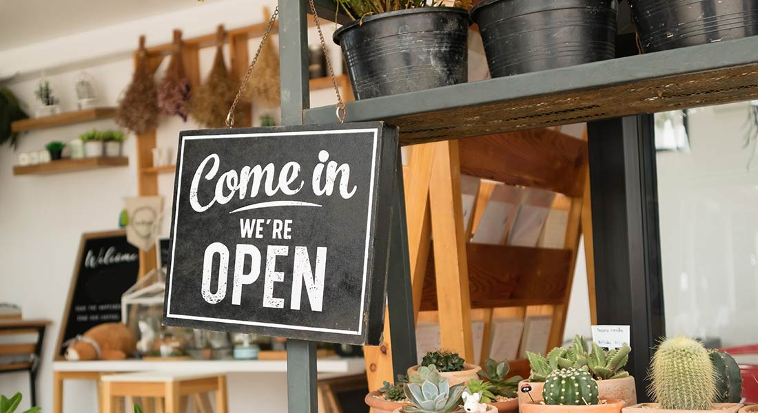 small business saturday open sign