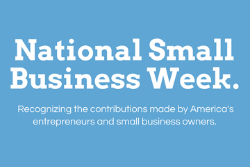 national small business week infographic preview