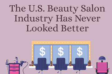 beauty salon infographic
