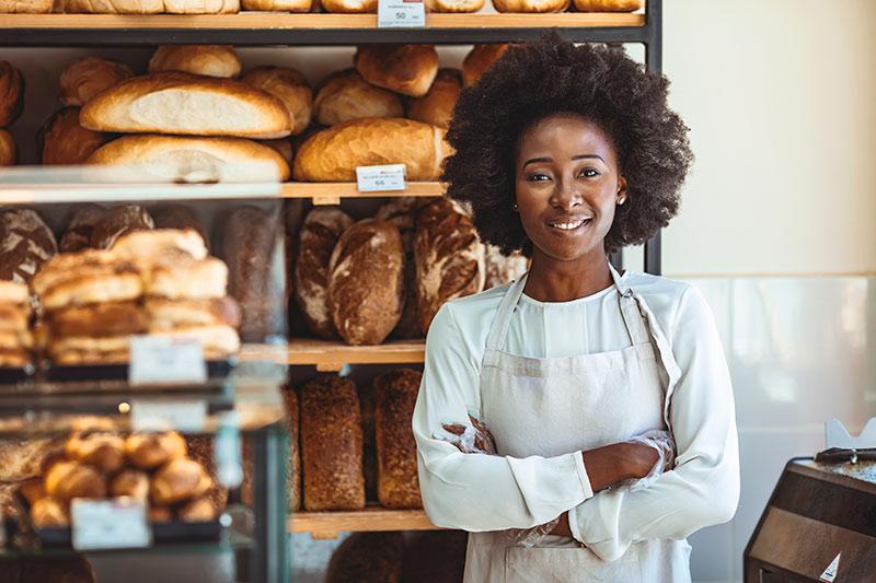 female bakery owner